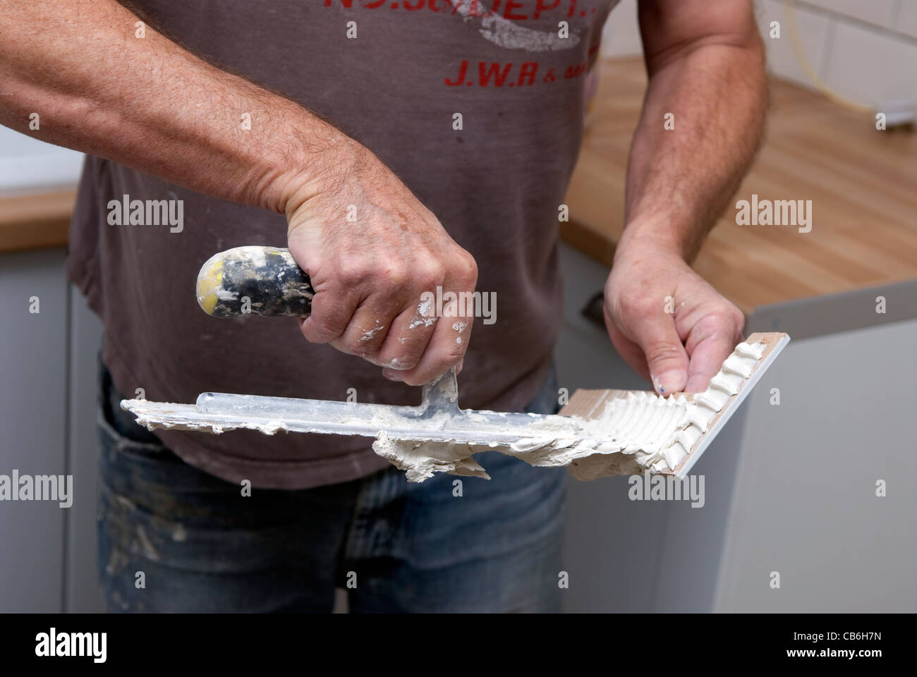 tiling adhesive Stock Photos & tiling adhesive Stock Images - Alamy