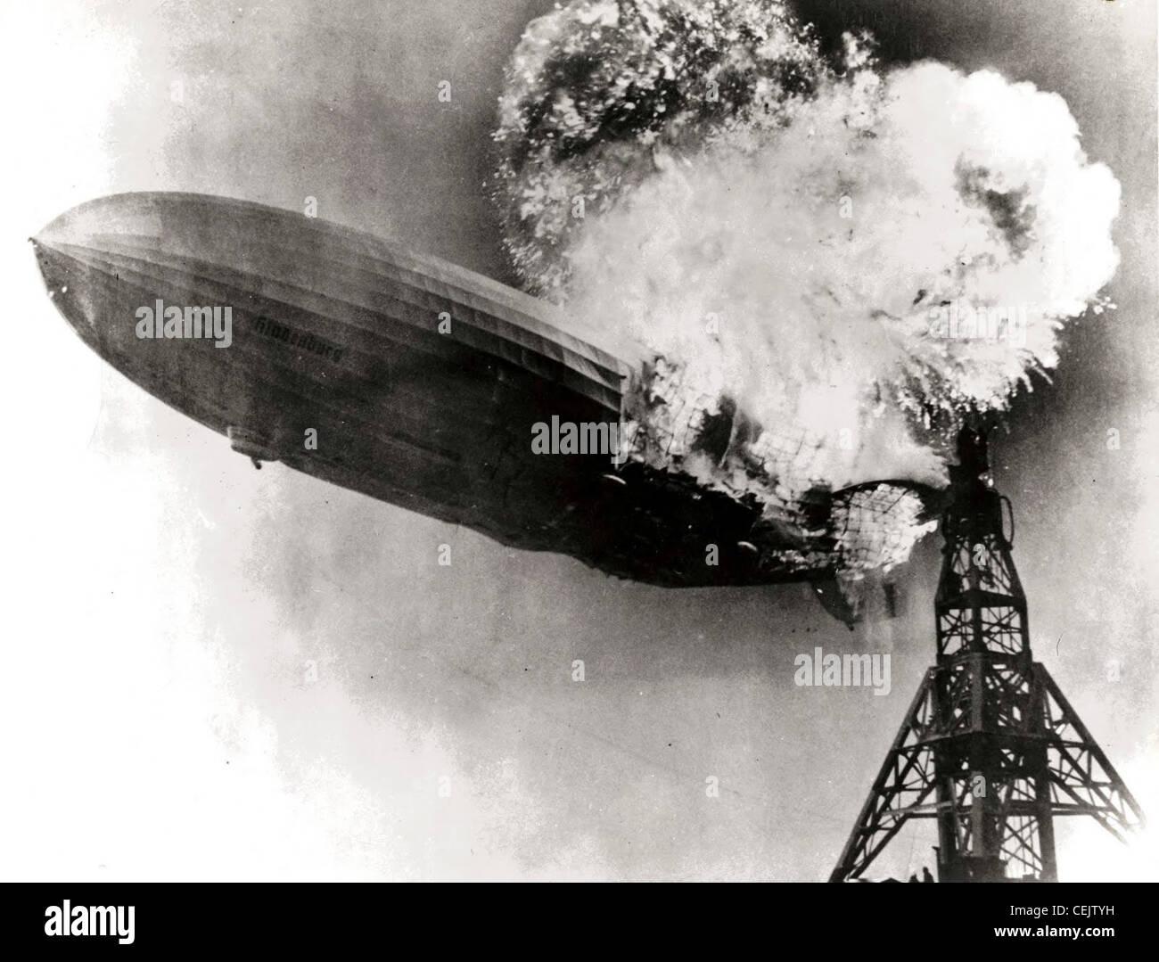 Desastre Hindenburg Imagen De Stock