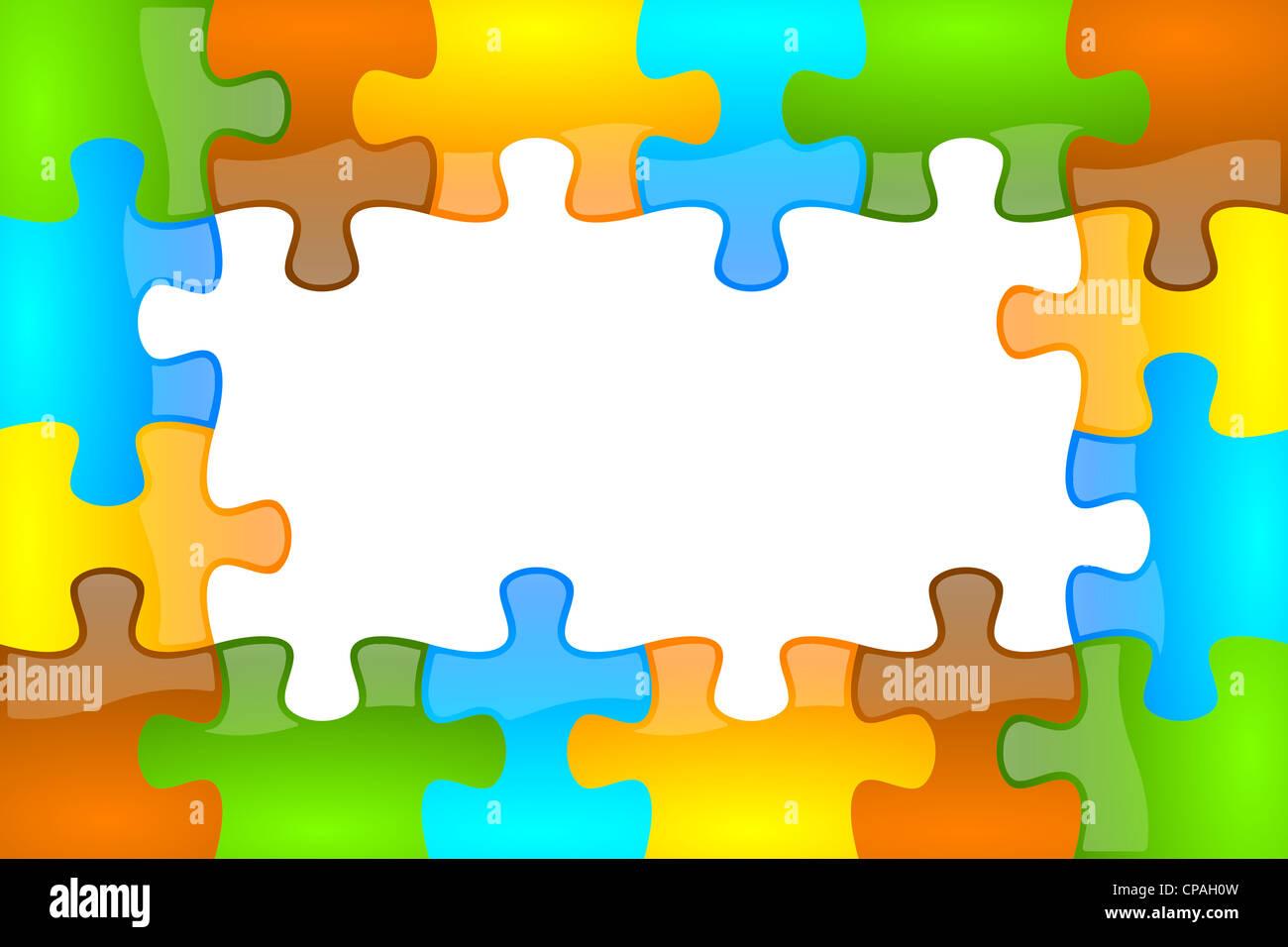 Color de fondo del marco de rompecabezas y jazzy 4 x 6 con el ...