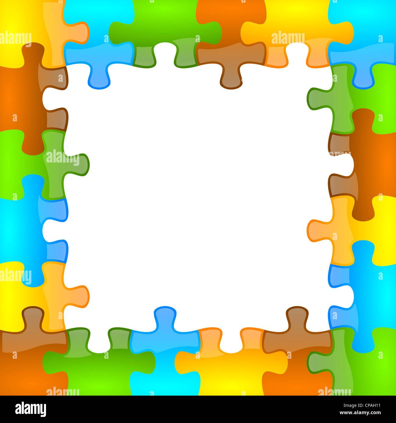Color de fondo del marco de rompecabezas y jazzy 6 x 6 con el ...