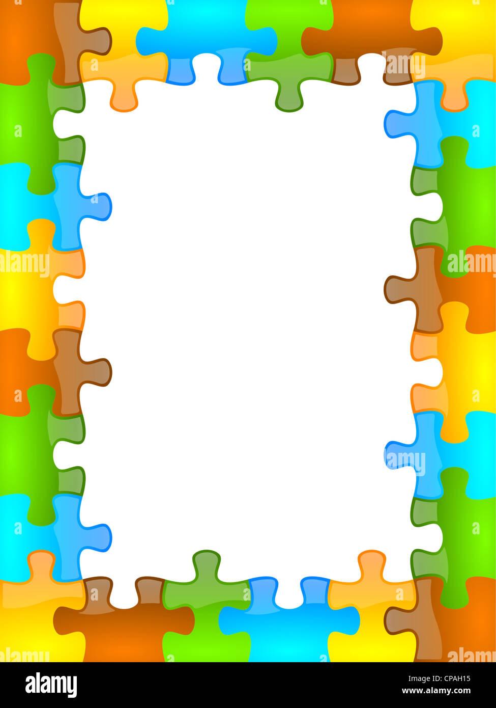 Color de fondo del marco de rompecabezas y jazzy 6 x 8 formato Foto ...