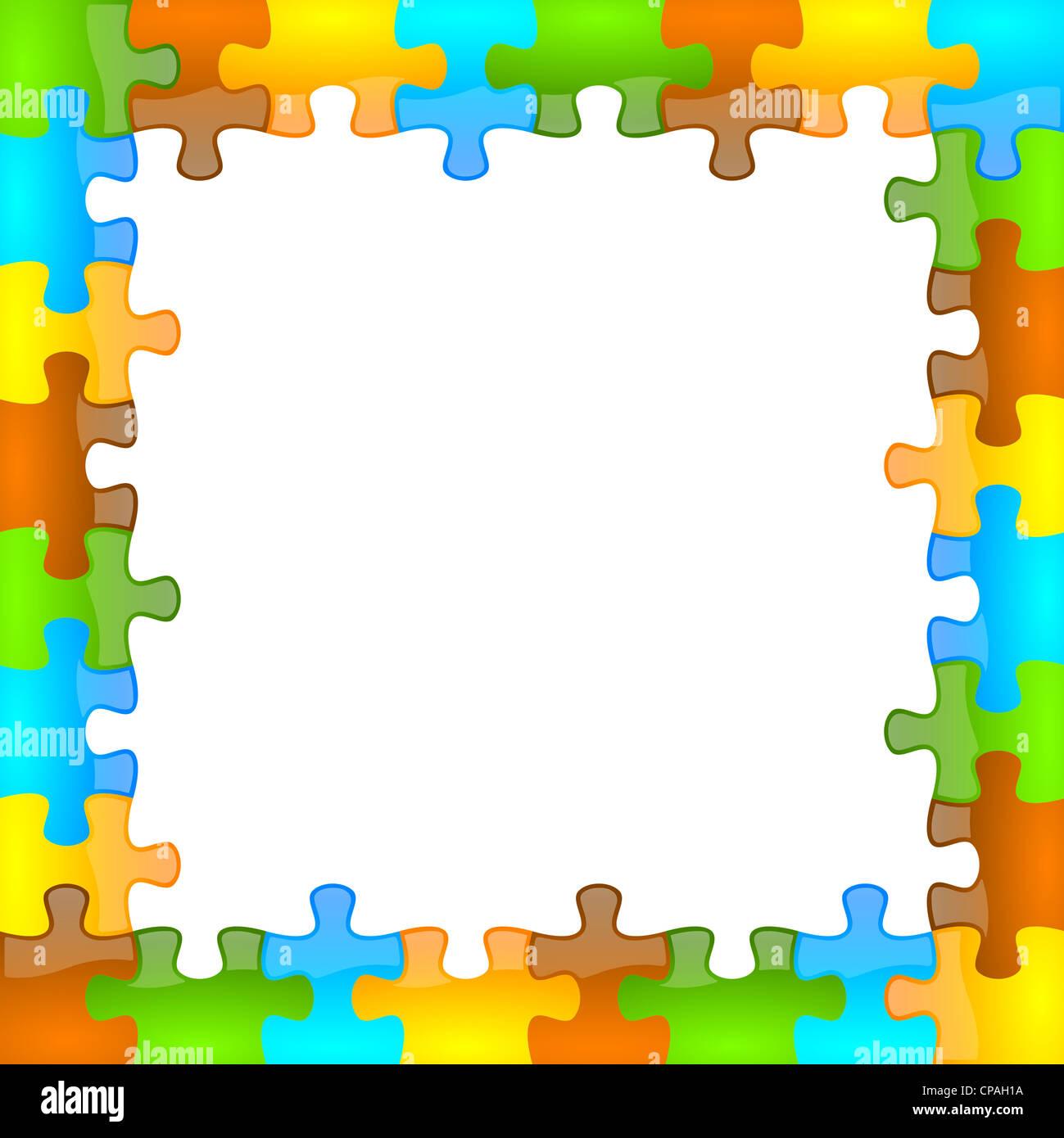 Color de fondo del marco y jazzy puzzle formato 8 x 8 Foto & Imagen ...
