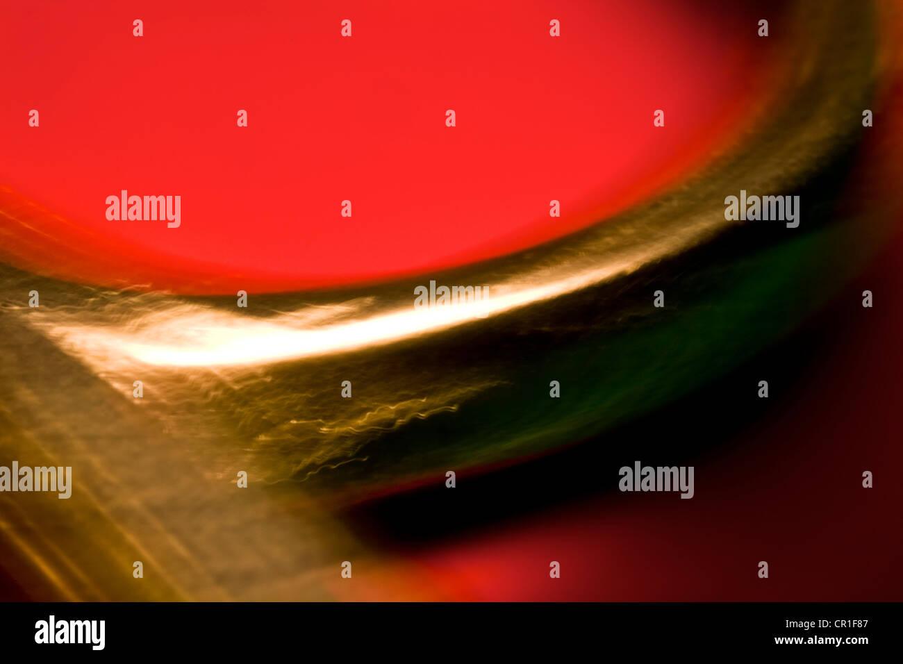 Extreme closeup de tijeras. Resumen imagen tomada con una lente macro de gran ampliación. Imagen De Stock