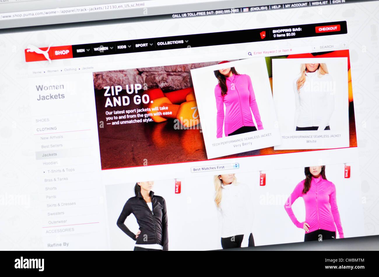 108431047ff Sitio web - Puma calzado y ropa deportiva Foto   Imagen De Stock ...