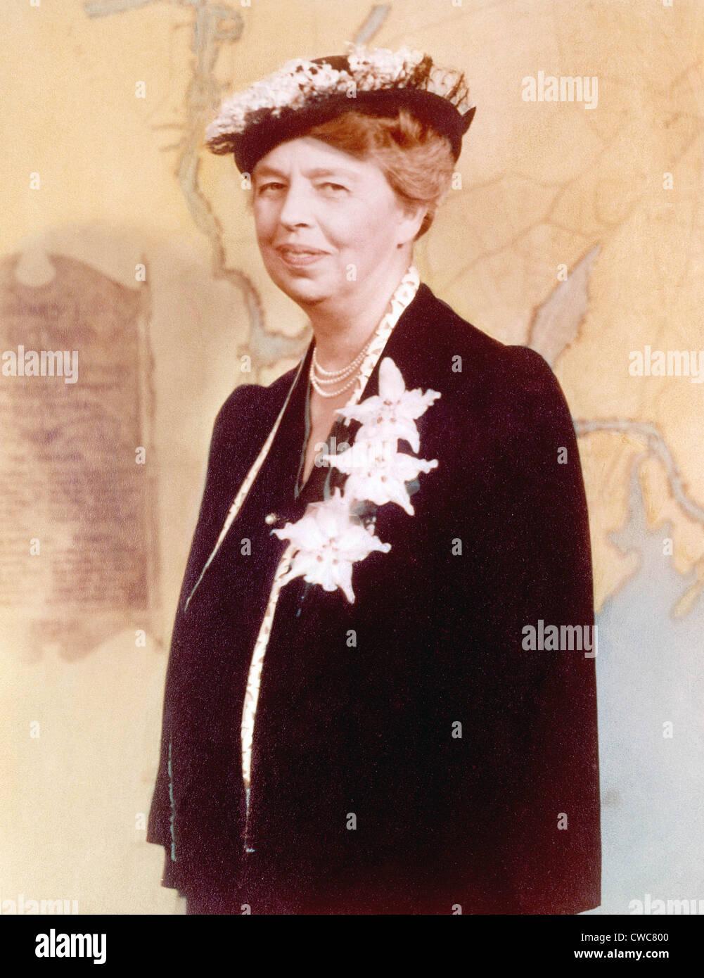 Eleanor Roosevelt. Coloreado a mano fotografía circa 1936 Foto ...