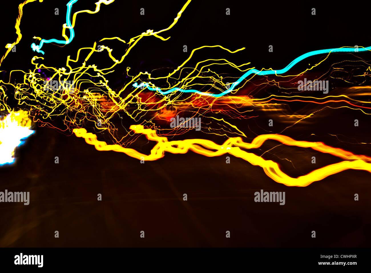 Lámparas,Resumen,vía de luces Imagen De Stock