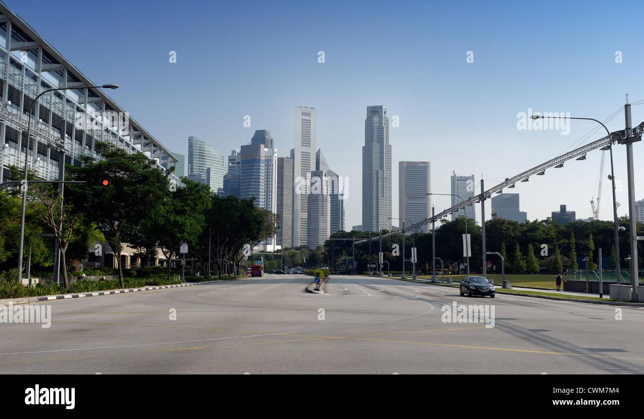 Circuito Singapur : El circuito de f1 de singapur la principal carretera pasando por