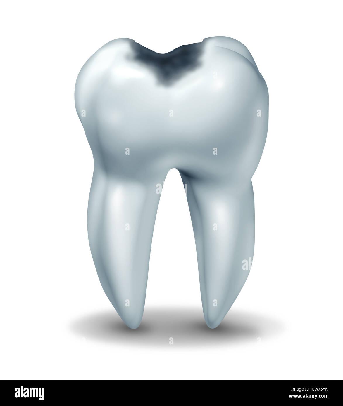 Símbolo de la cavidad del diente mostrando la anatomía médica de ...