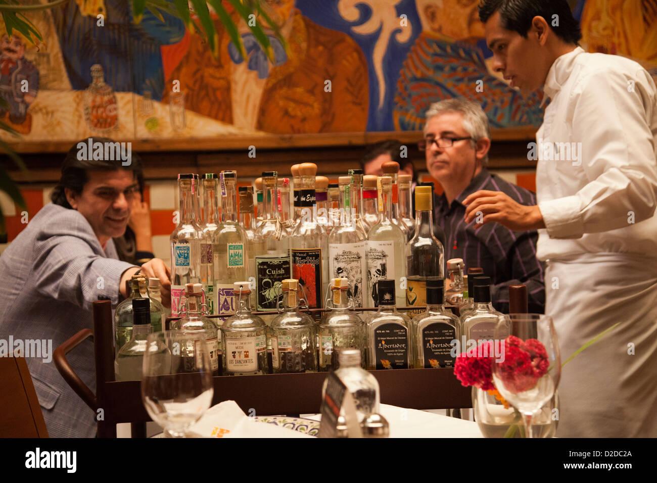 El Mural De Los Poblanos En Puebla Restaurante Sirviendo El Mezcal