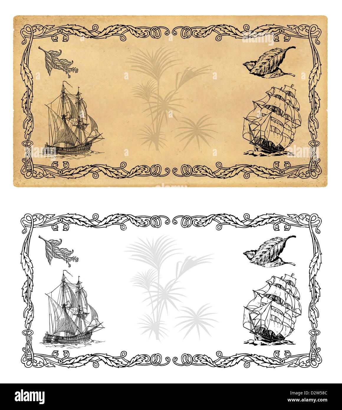 Ilustración plantilla para etiquetas de especias o té Foto & Imagen ...