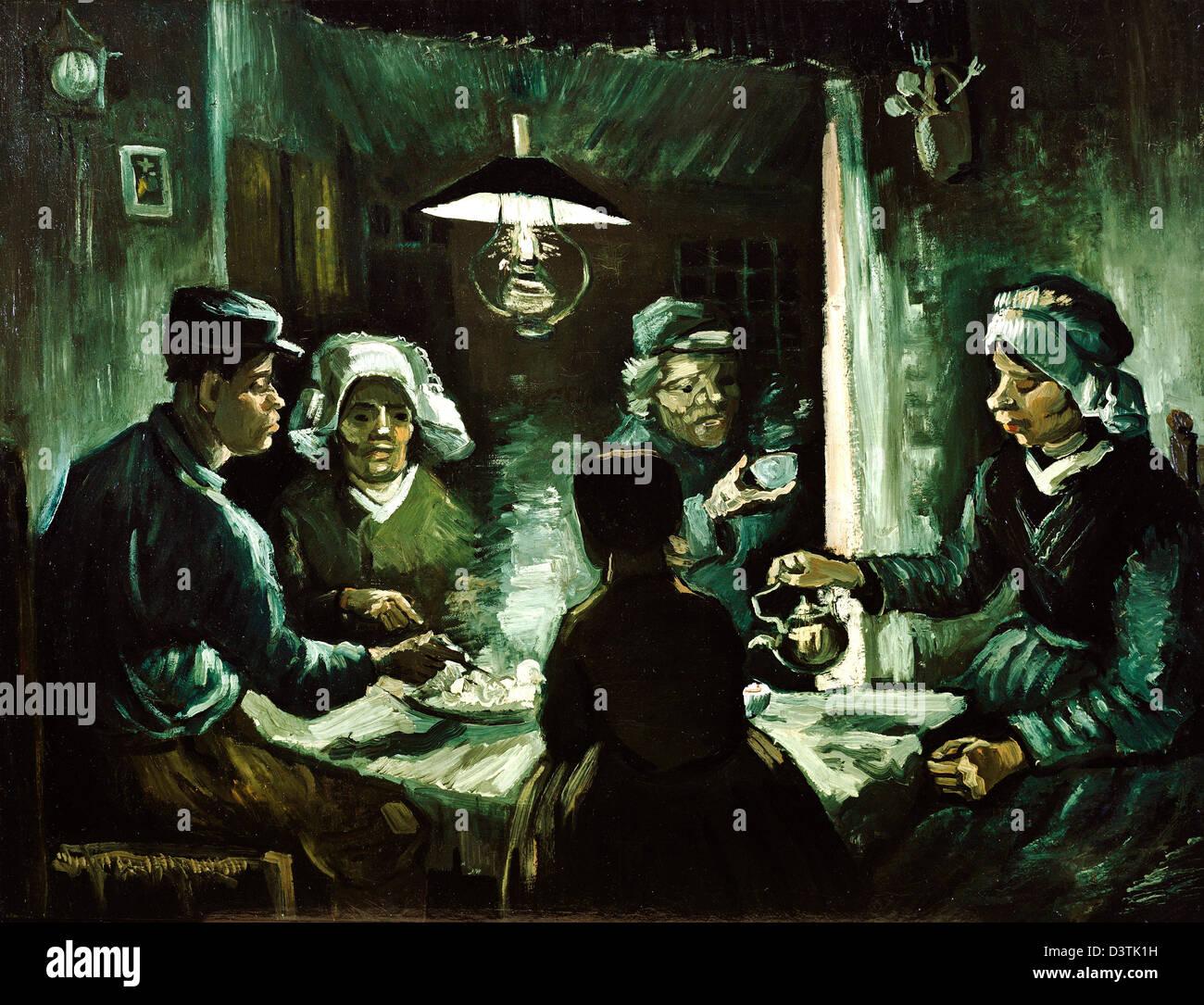 Vincent van Gogh, los comedores de patatas 1885 Óleo sobre lienzo ...