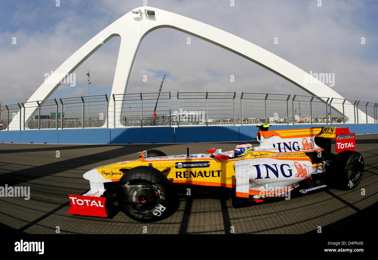 Circuito Valencia F1 : Francés de fórmula uno novato romain grosjean de renault f