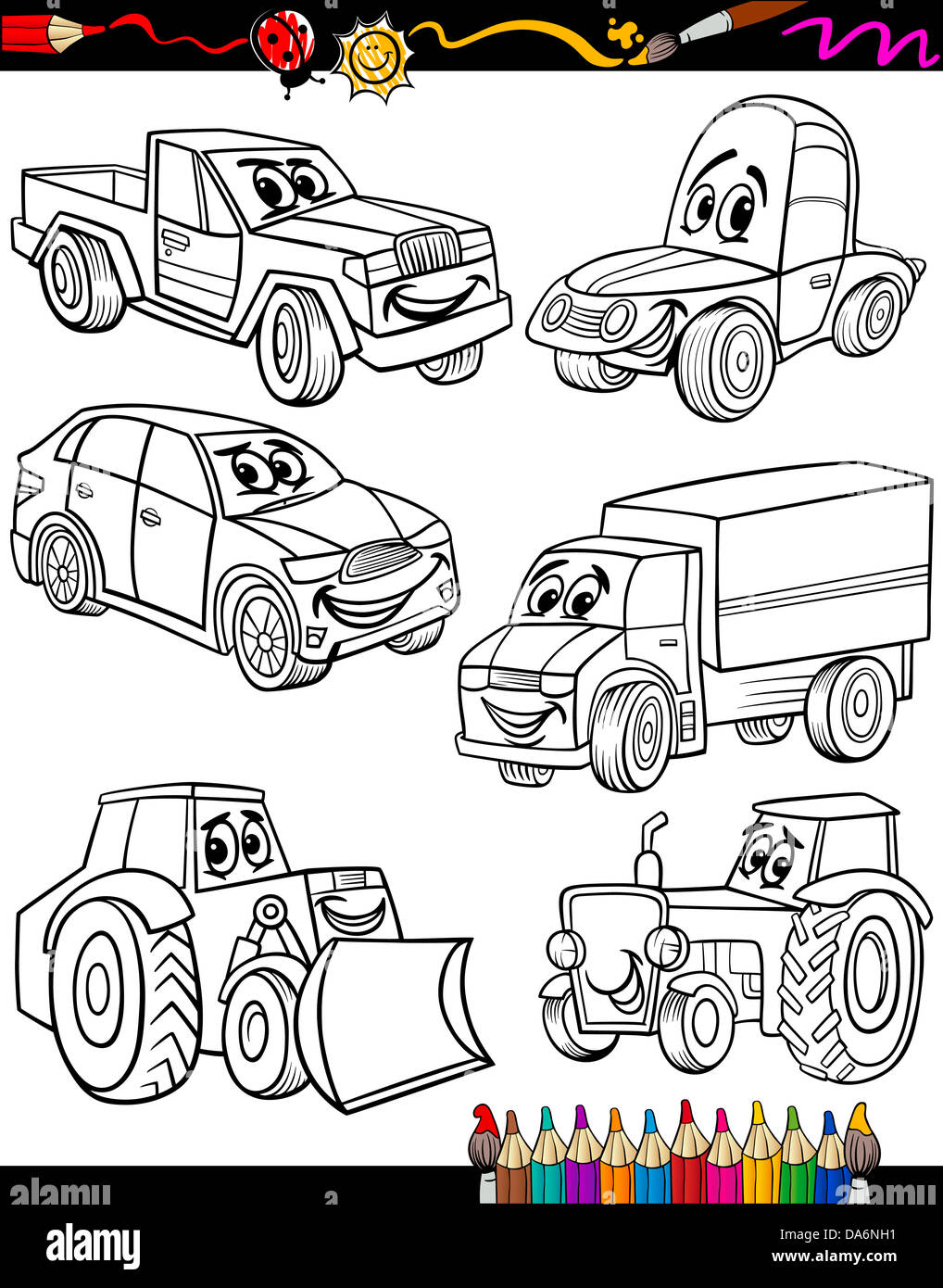 Moderno Camión Tonka Para Colorear Composición - Enmarcado Para ...