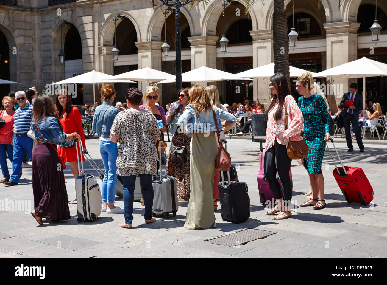 Mujeres vestidas del barcelona