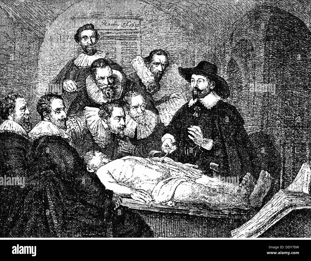 La medicina, la anatomía, la disección / la autopsia, después de ...
