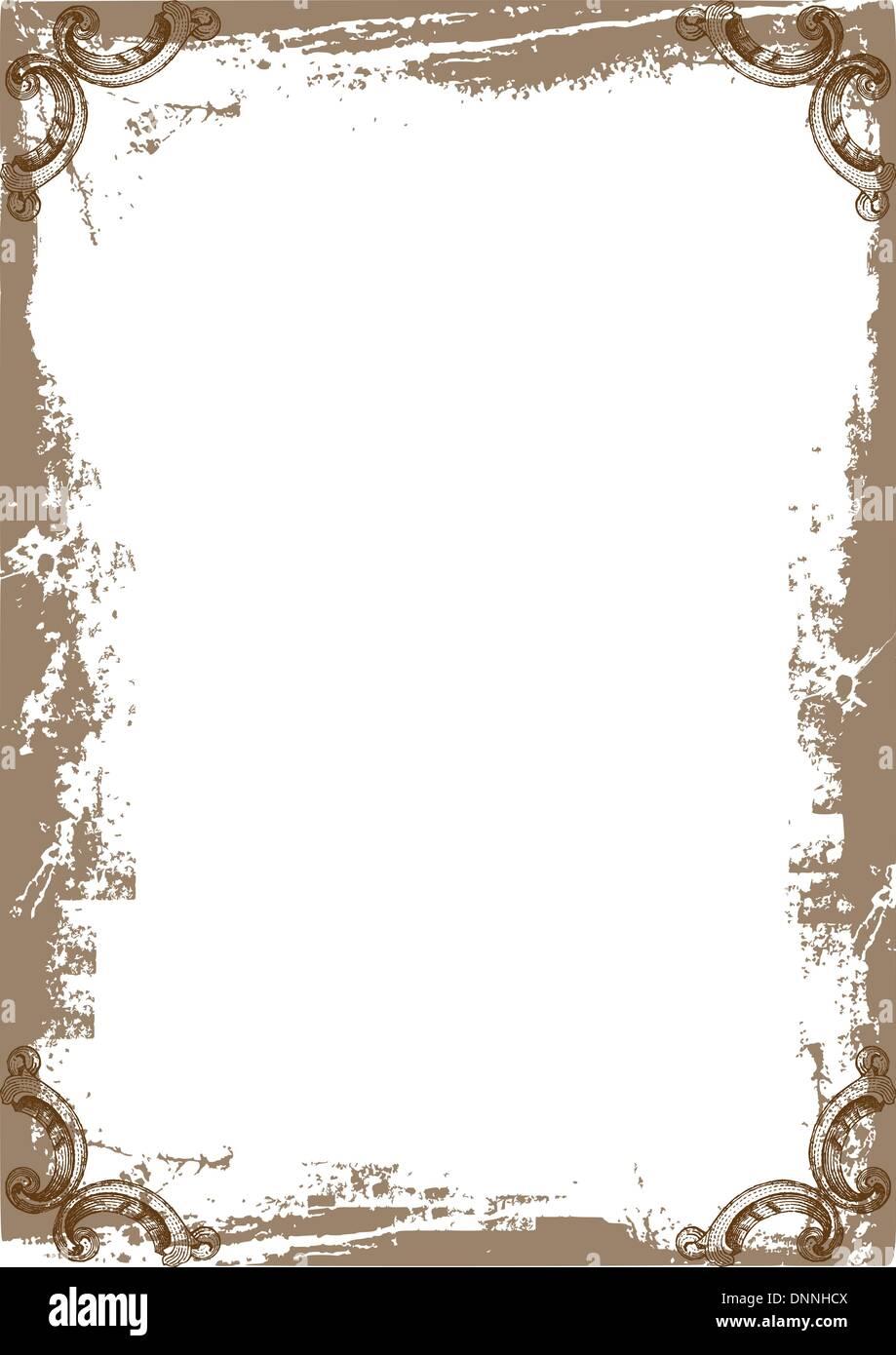Lindo marco se puede usar como marco del diploma Ilustración del ...