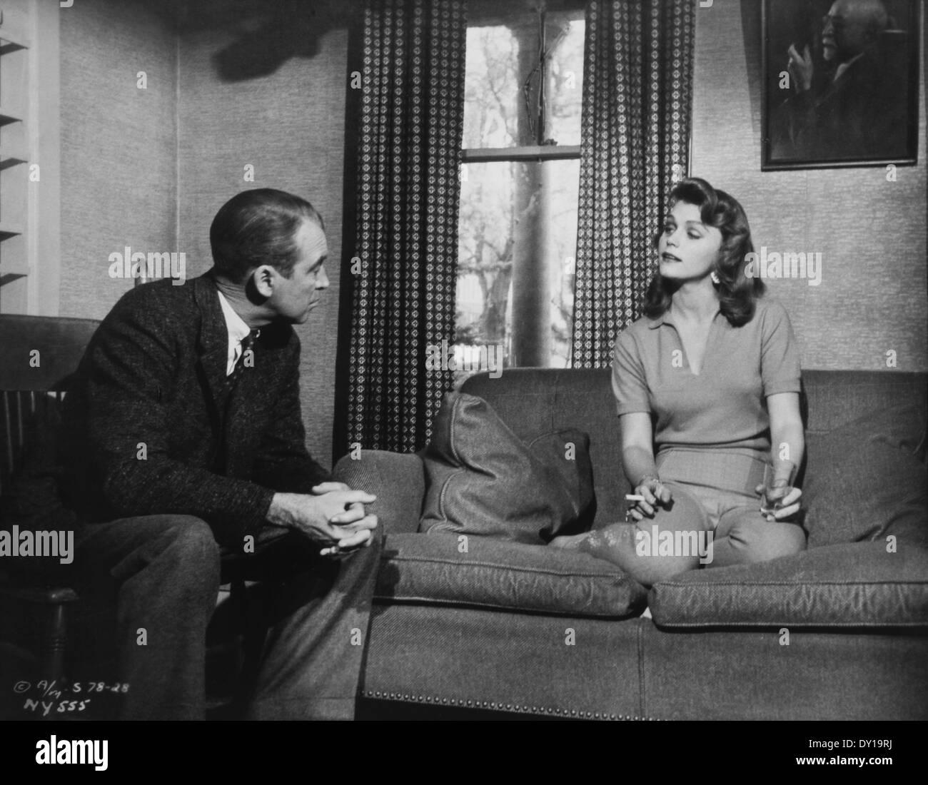 James Stewart y Lee Remick, en el plató de la película, \