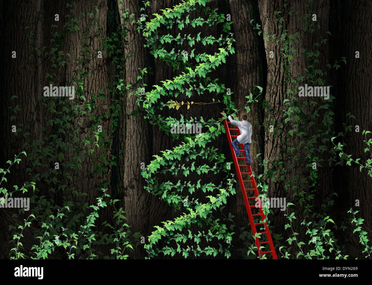 Hélice de ADN el concepto de terapia génica con un médico ...
