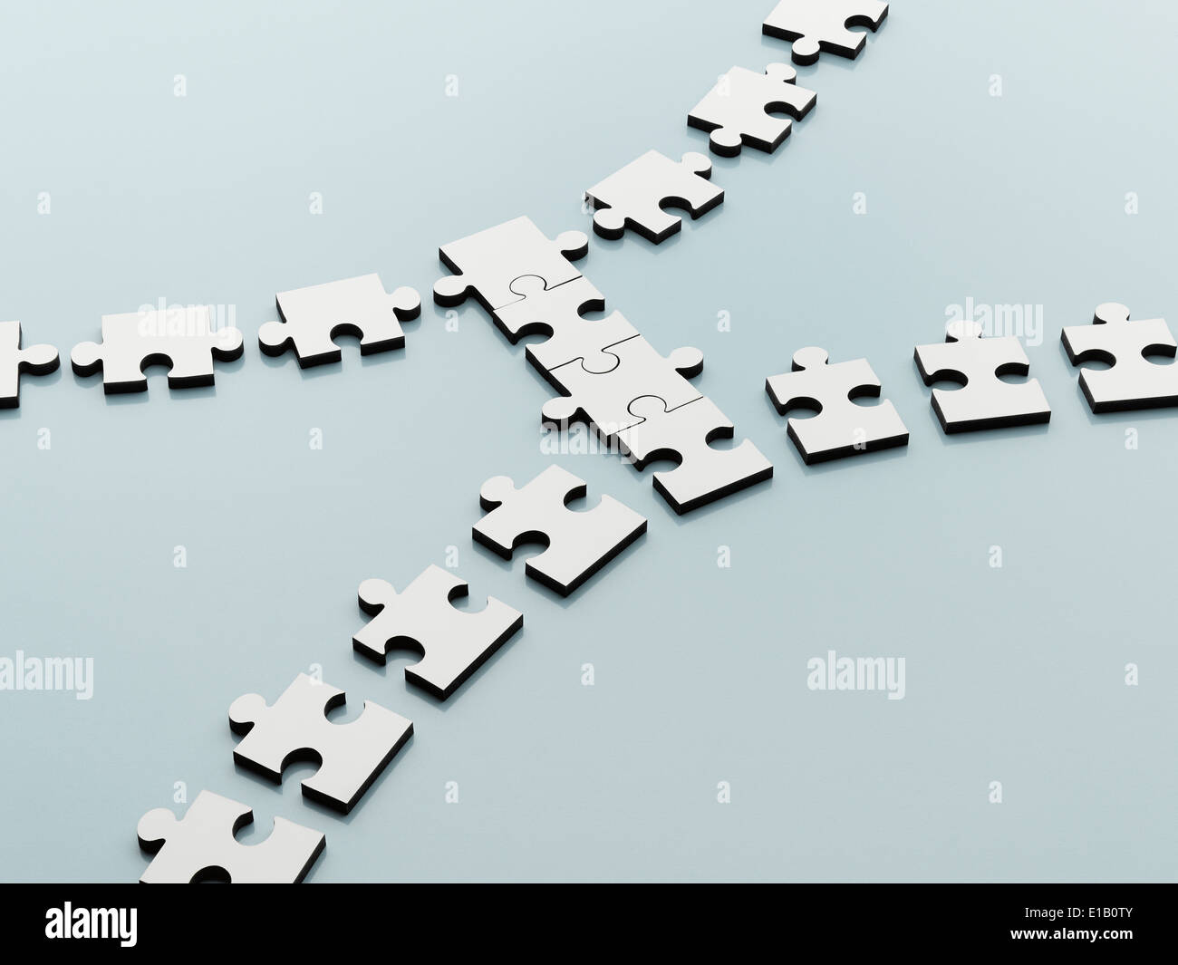 Piezas de rompecabezas salvando la brecha Imagen De Stock