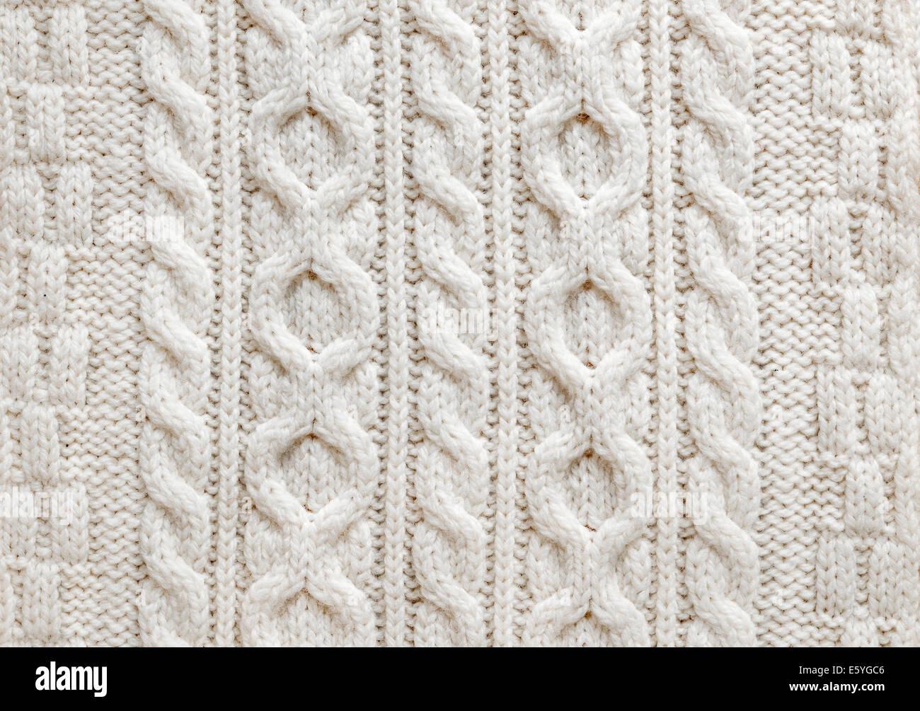 Tejer la textura de la luz natural del tejido de lana con patrones ...