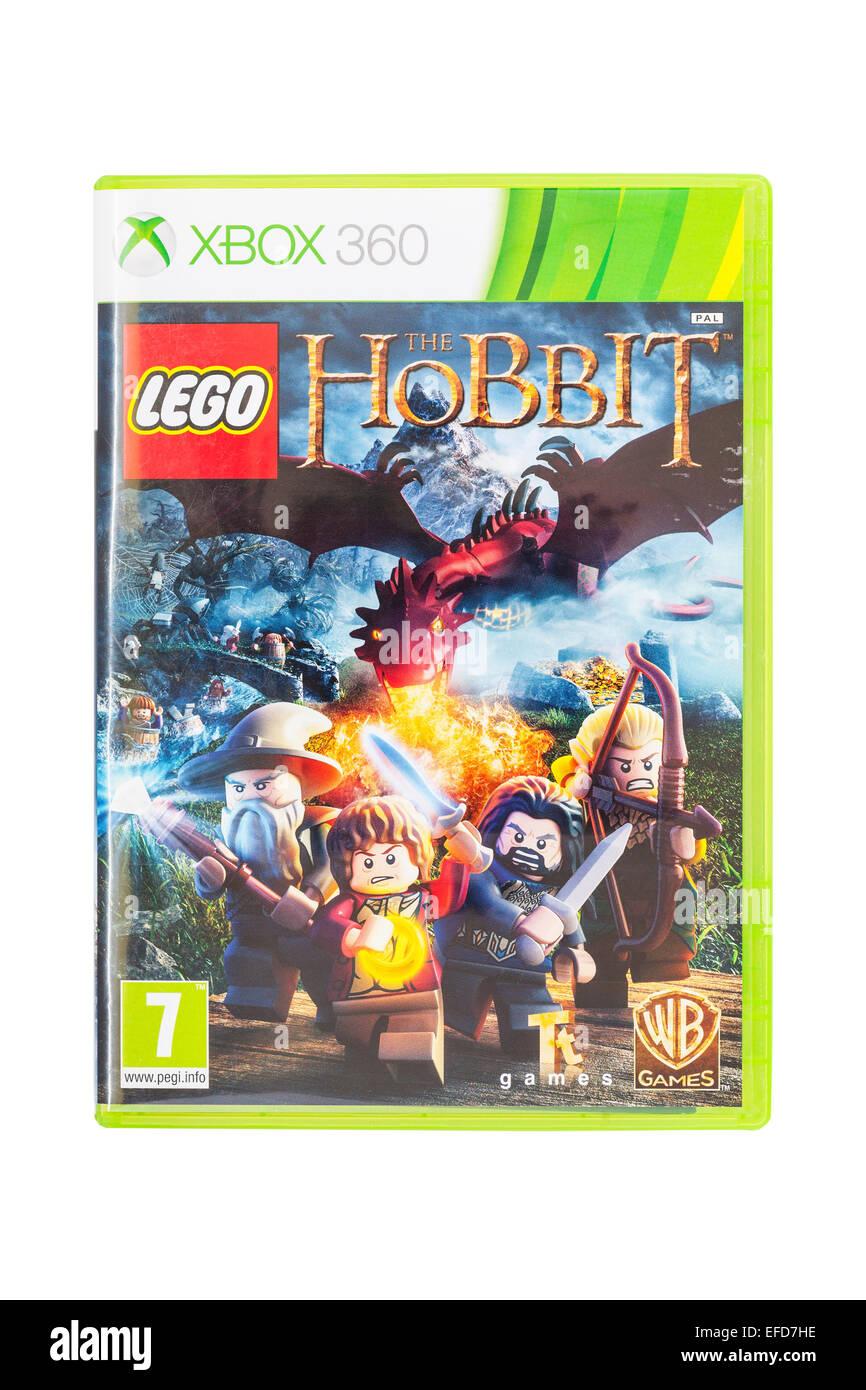 El Microsoft Xbox 360 Lego El Hobbit Juego Sobre Un Fondo Blanco