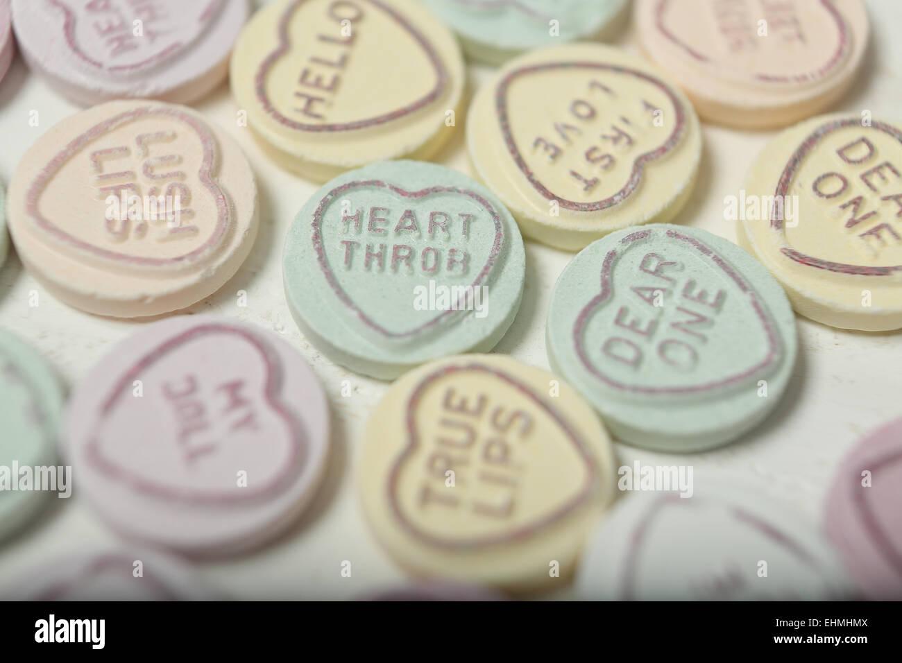 San Valentin Corazon Dulces O Golosinas Anunciando Numerosas Frases