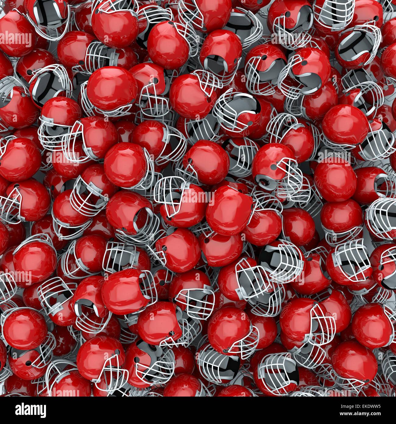 3D Render de cascos de fútbol americano, fácil para colorear Foto ...