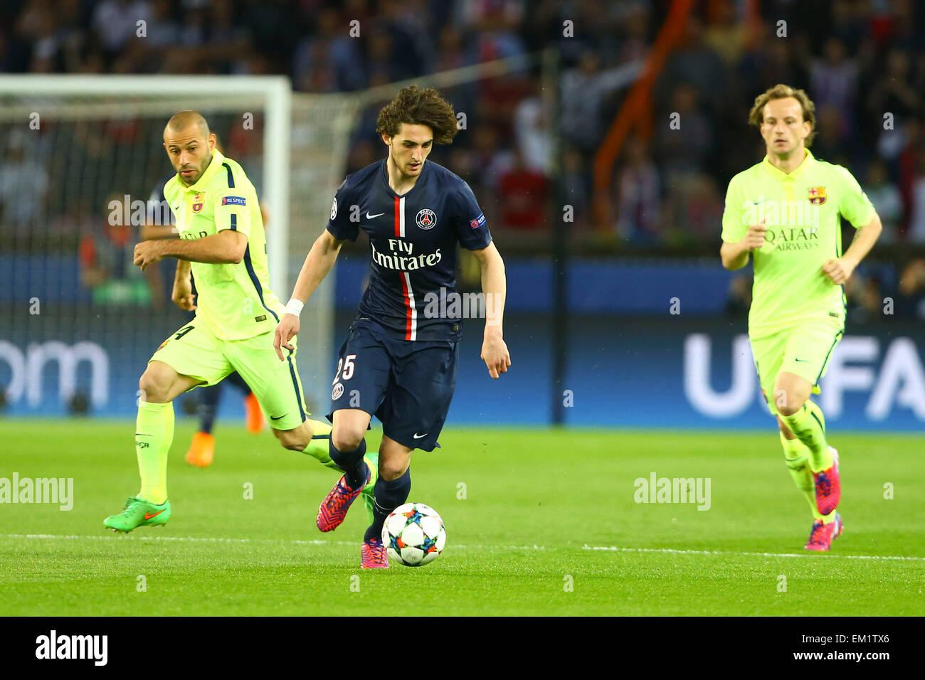 París, Francia. 15 abr, 2015. La UEFA Champions League. Los cuartos ...