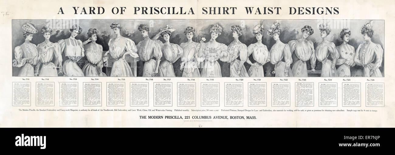 Un patio de Priscilla shirt cintura diseños. Anuncio para patrones ...