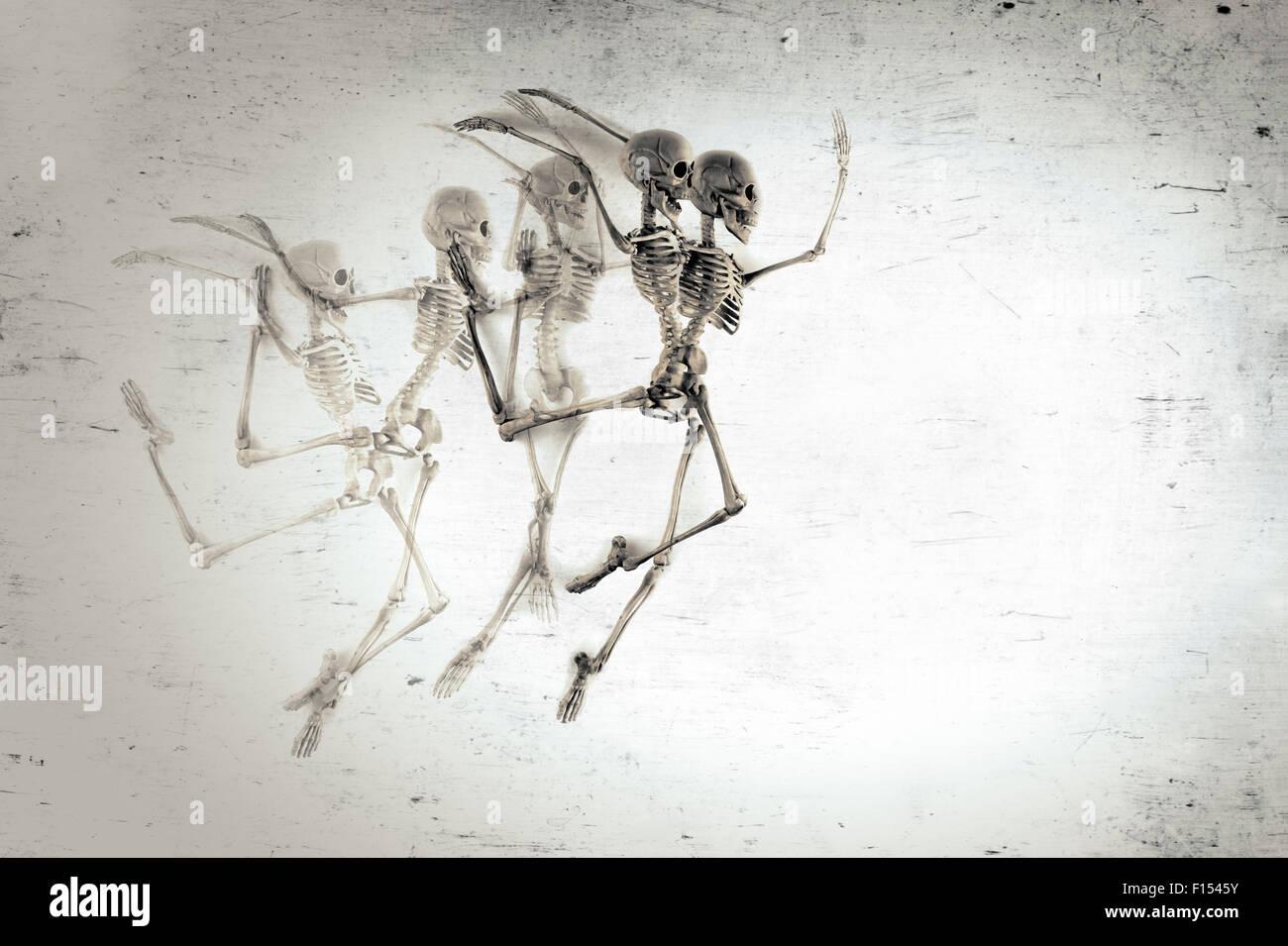 Agraciado baile esqueleto médicos time lapse de fondo anatomía Foto ...