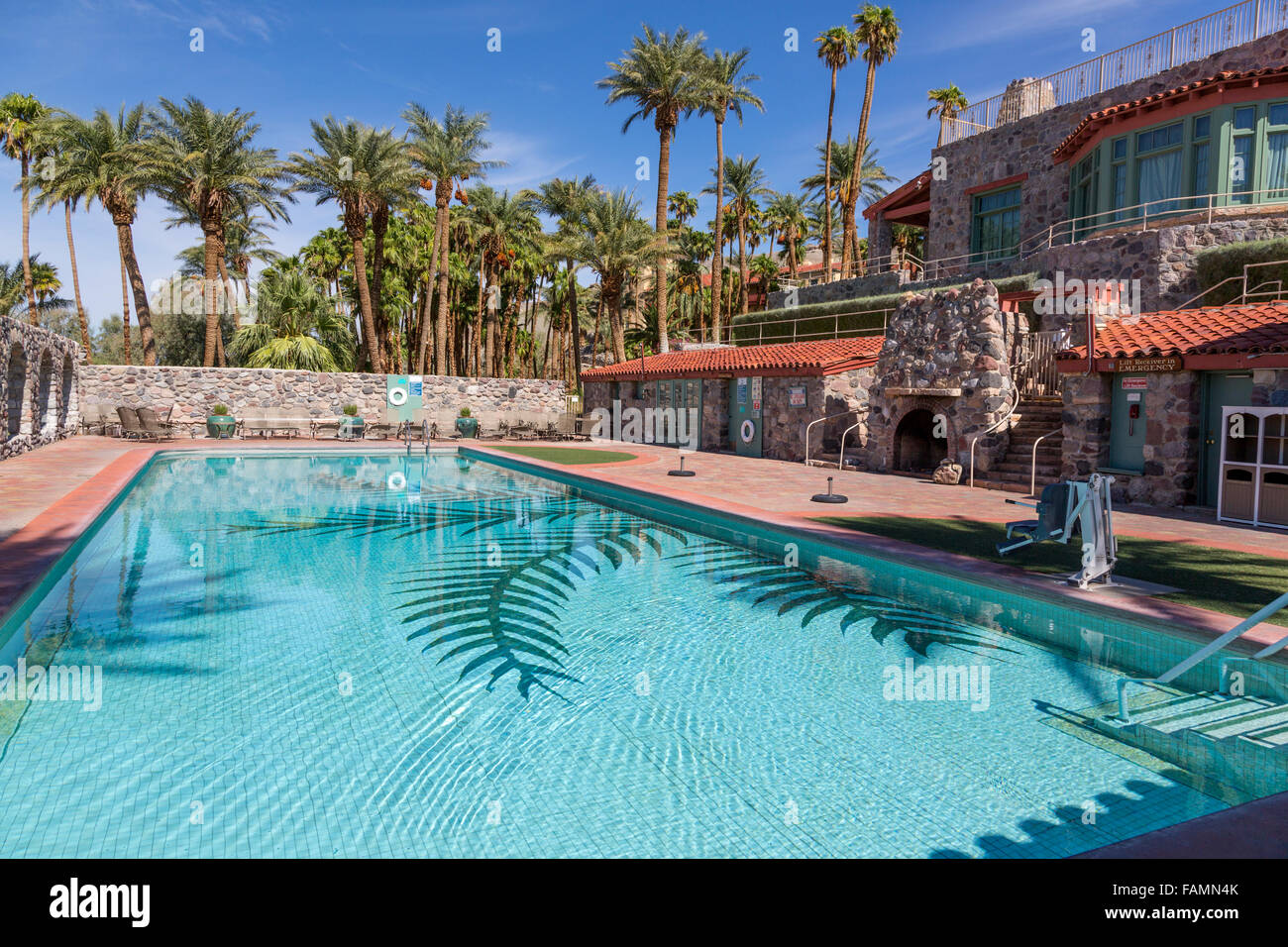 Valle De La Muerte California Furnace Creek A La Piscina Del