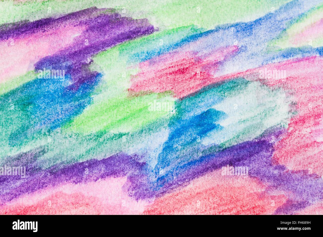Dibujo Abstracto Pintado Con Crayones De Acuarela Textura Para Que