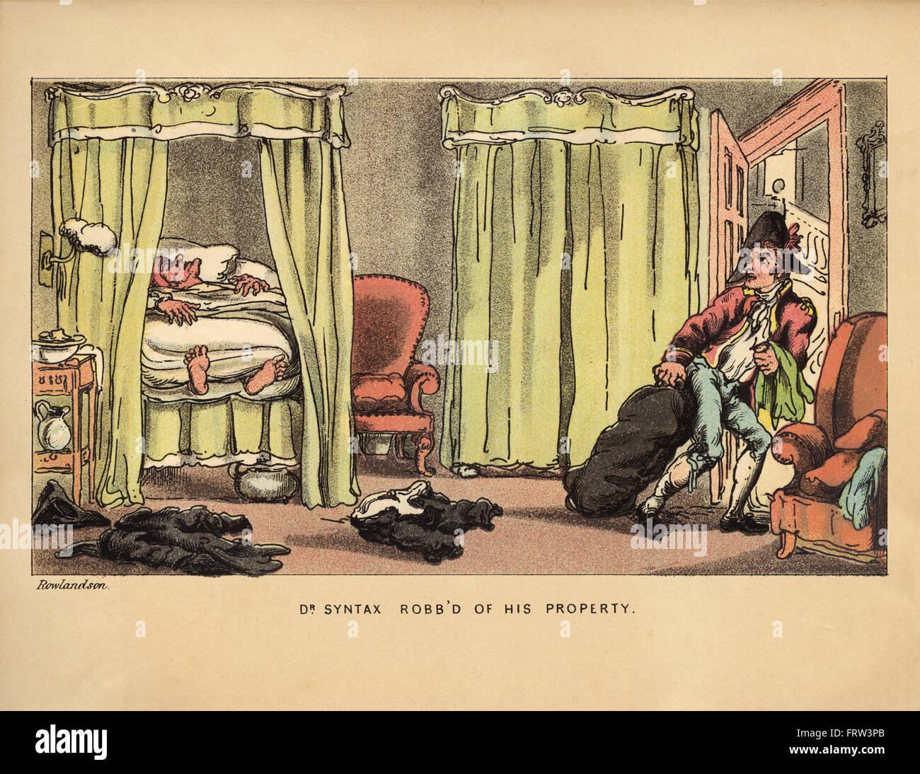 Vintage humor ilustración en color por Thomas Rowlandson (1756-1827 ...