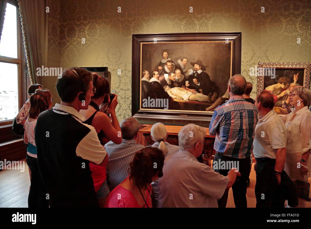 Los visitantes admiran \