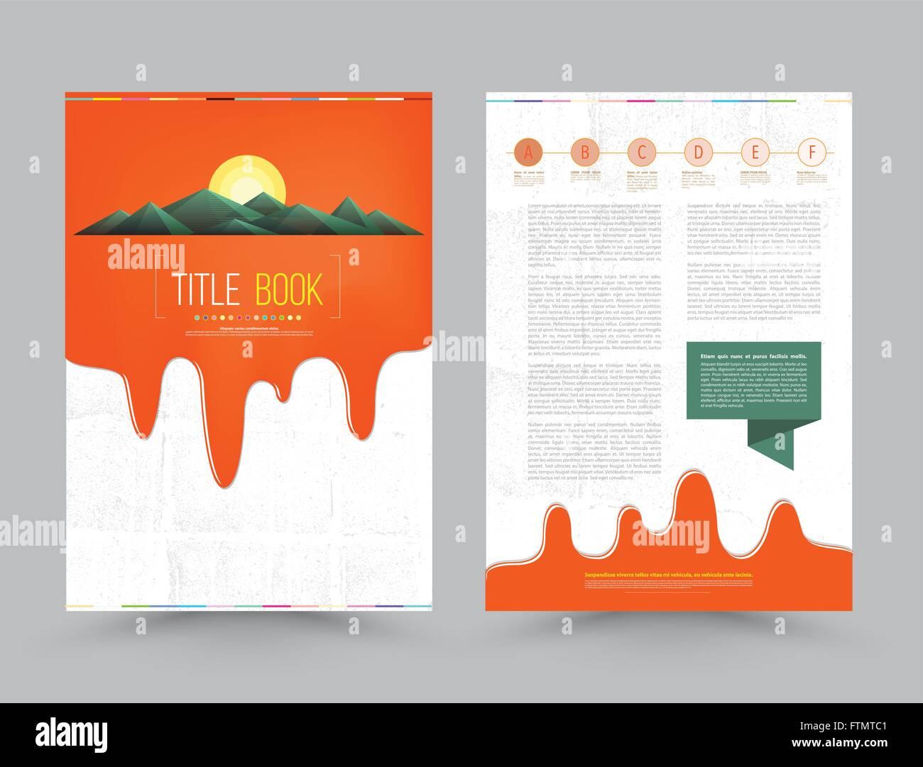 Folleto comercial plantilla diseño de folleto en tamaño A4 de ...