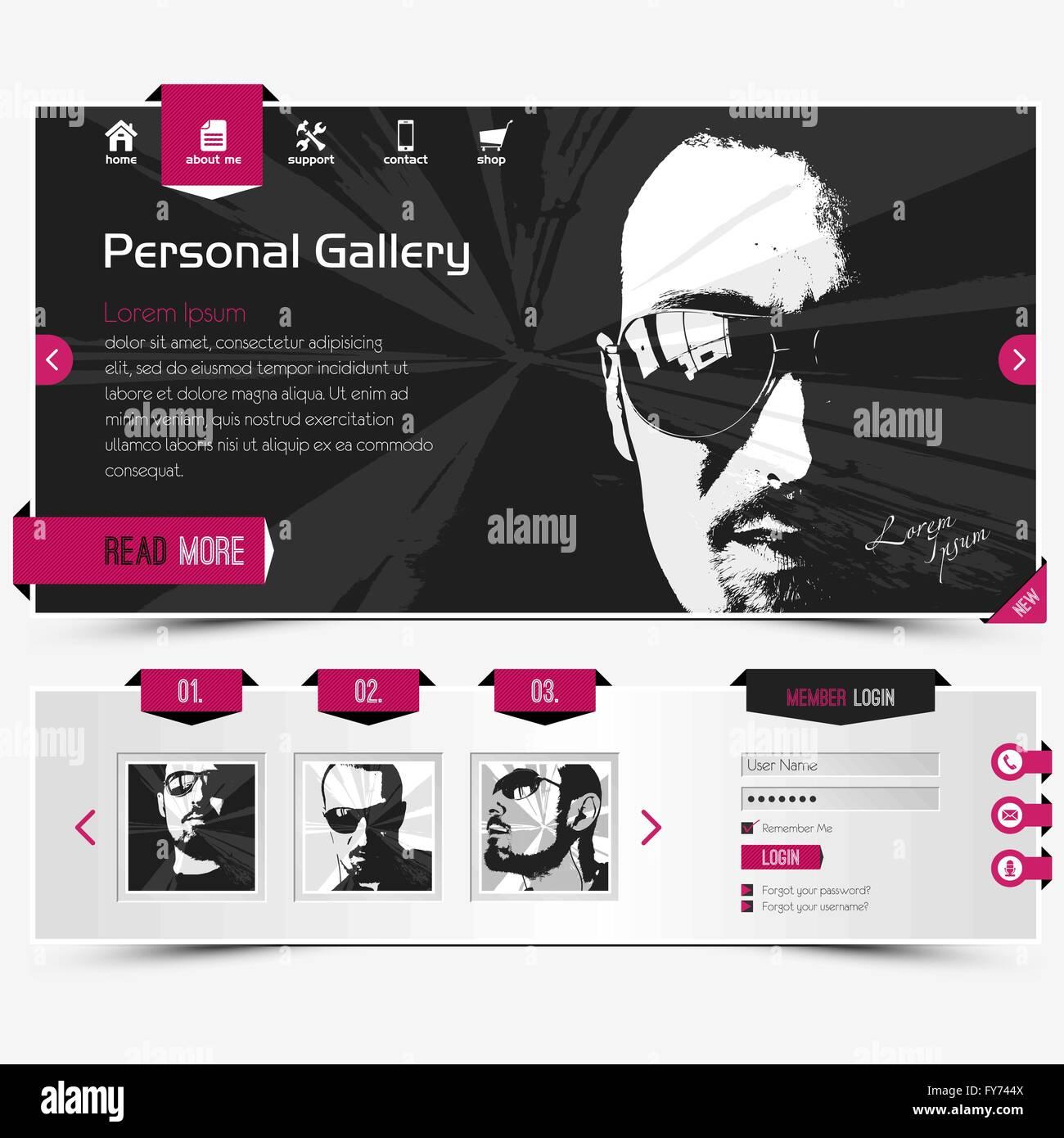 Sitio web de plantilla para galería personal, contiene etiquetas de ...