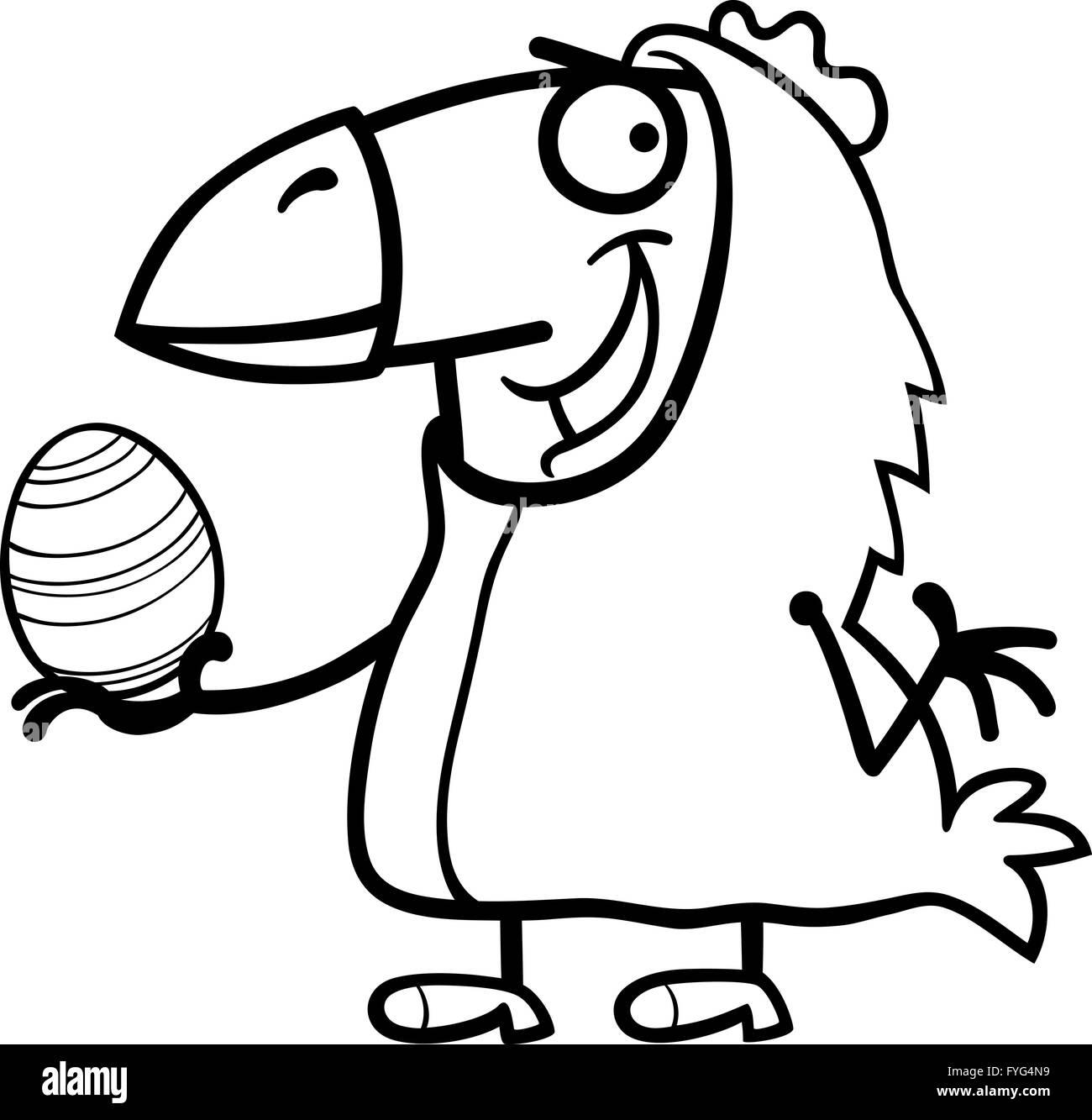 El hombre como pollo de Pascua para colorear dibujos animados Foto ...