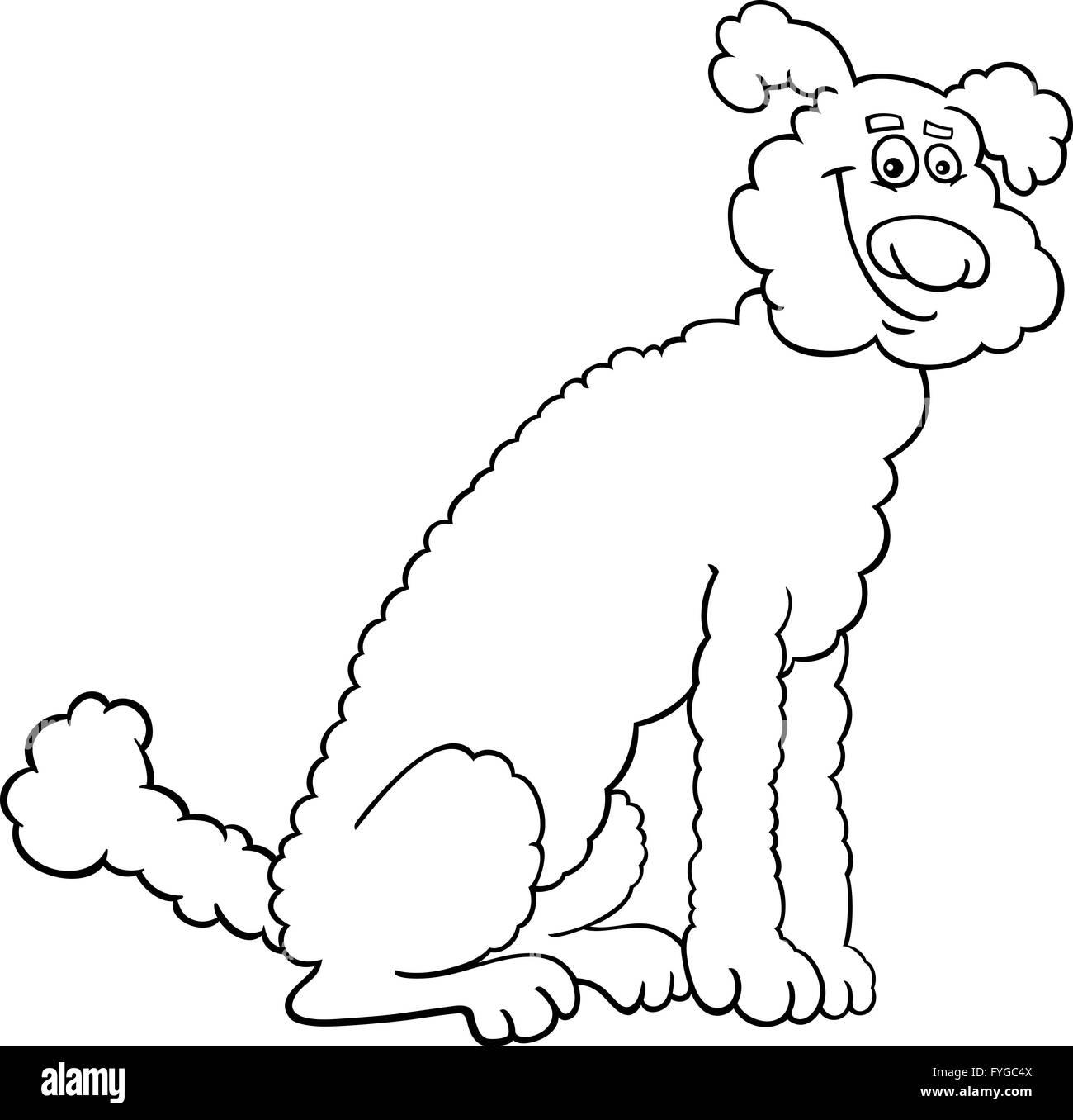Poodle perro caricatura para coloring book Foto & Imagen De Stock ...