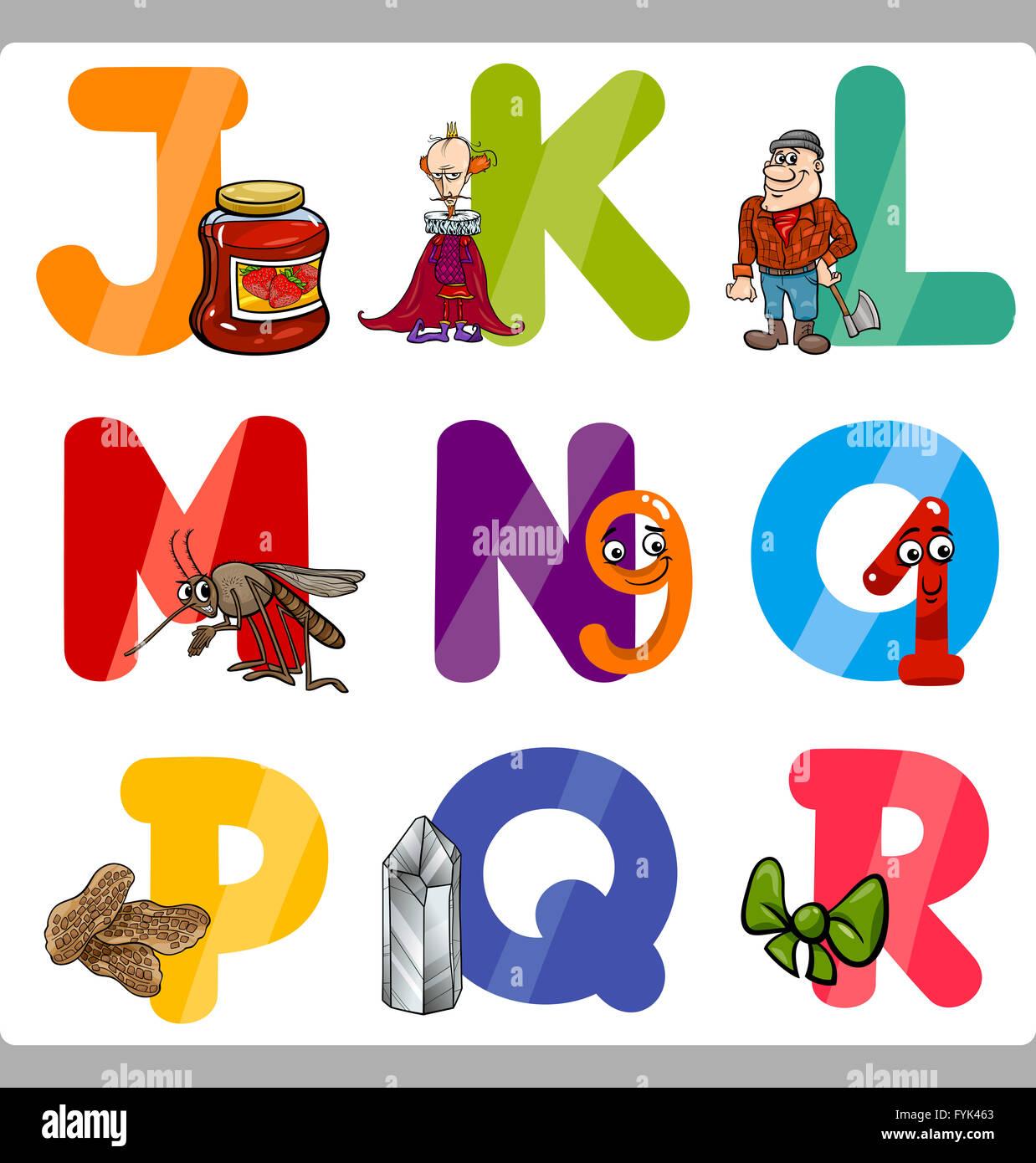 la educación cartoon las letras del abecedario para niños foto