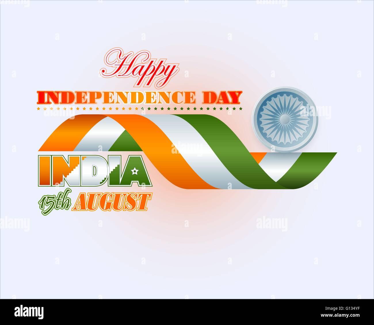 Vacaciones con Fondo Ashoka rueda y la bandera india para el 15 de ...