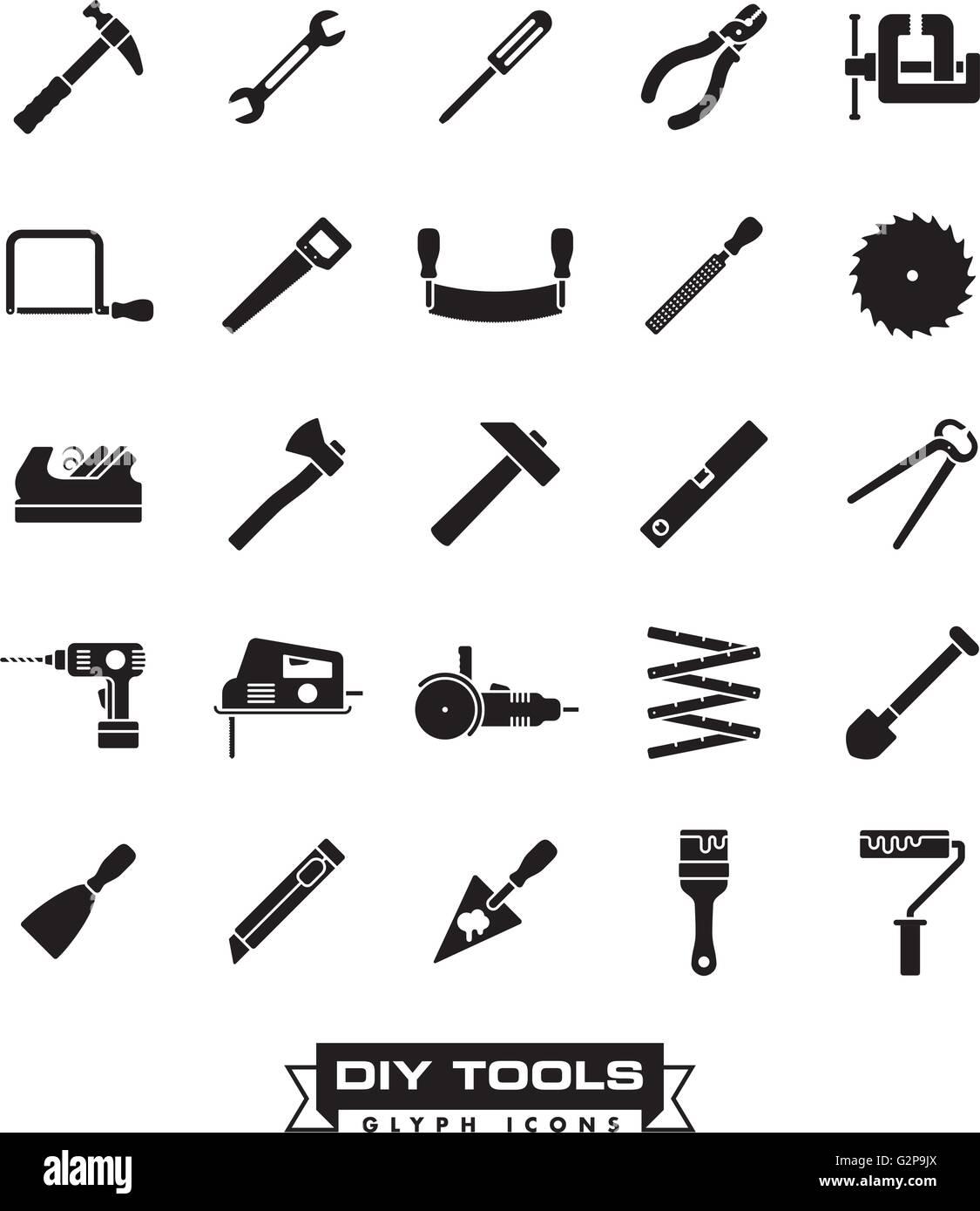 Colección de bricolaje y herramienta de elaboración de pictogramas ...
