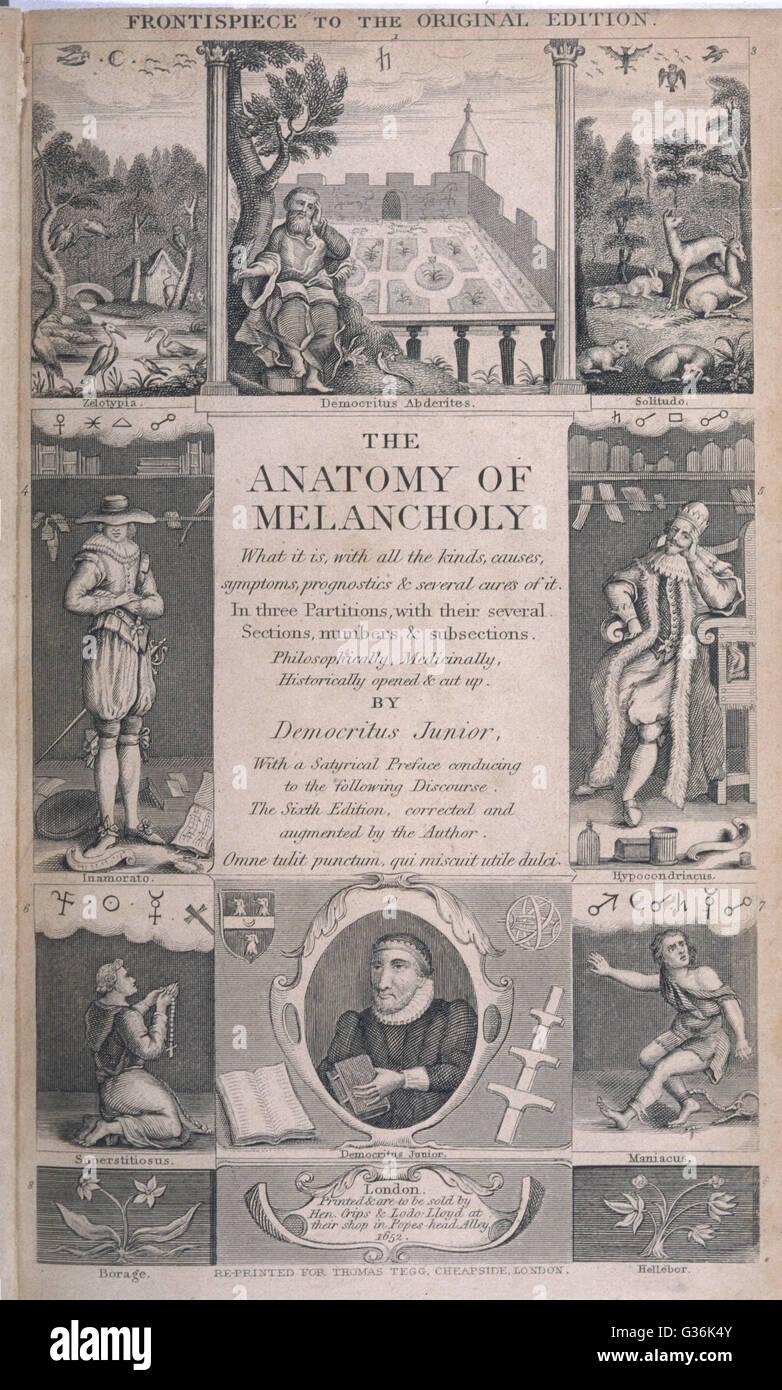 Robert Burton (1577-1640). Clérigo inglés y autor quien escribió la ...