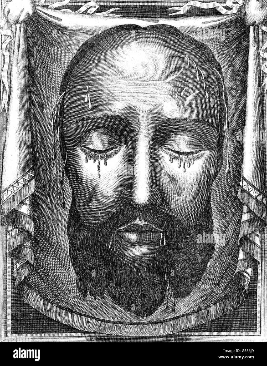 Jesús De Nazaret La Efigie De Jesús Mostrando Las Marcas De La