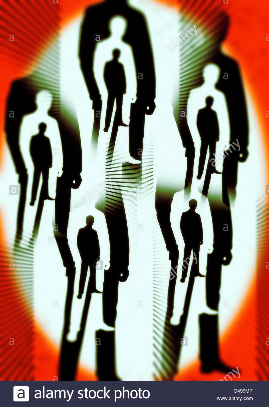 Los hombres de negro el área 51 conspiración roswell ilustración Imagen De Stock