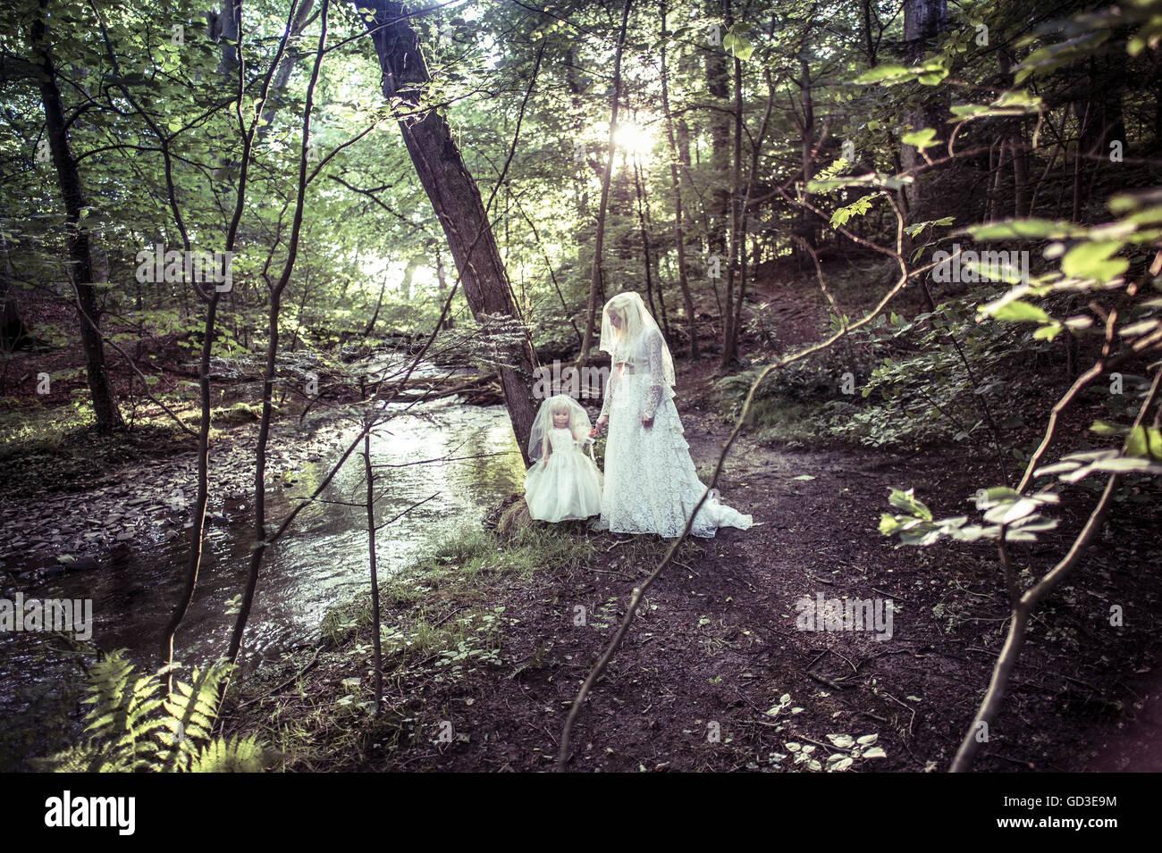 Pesadilla con mujer vestida de blanco