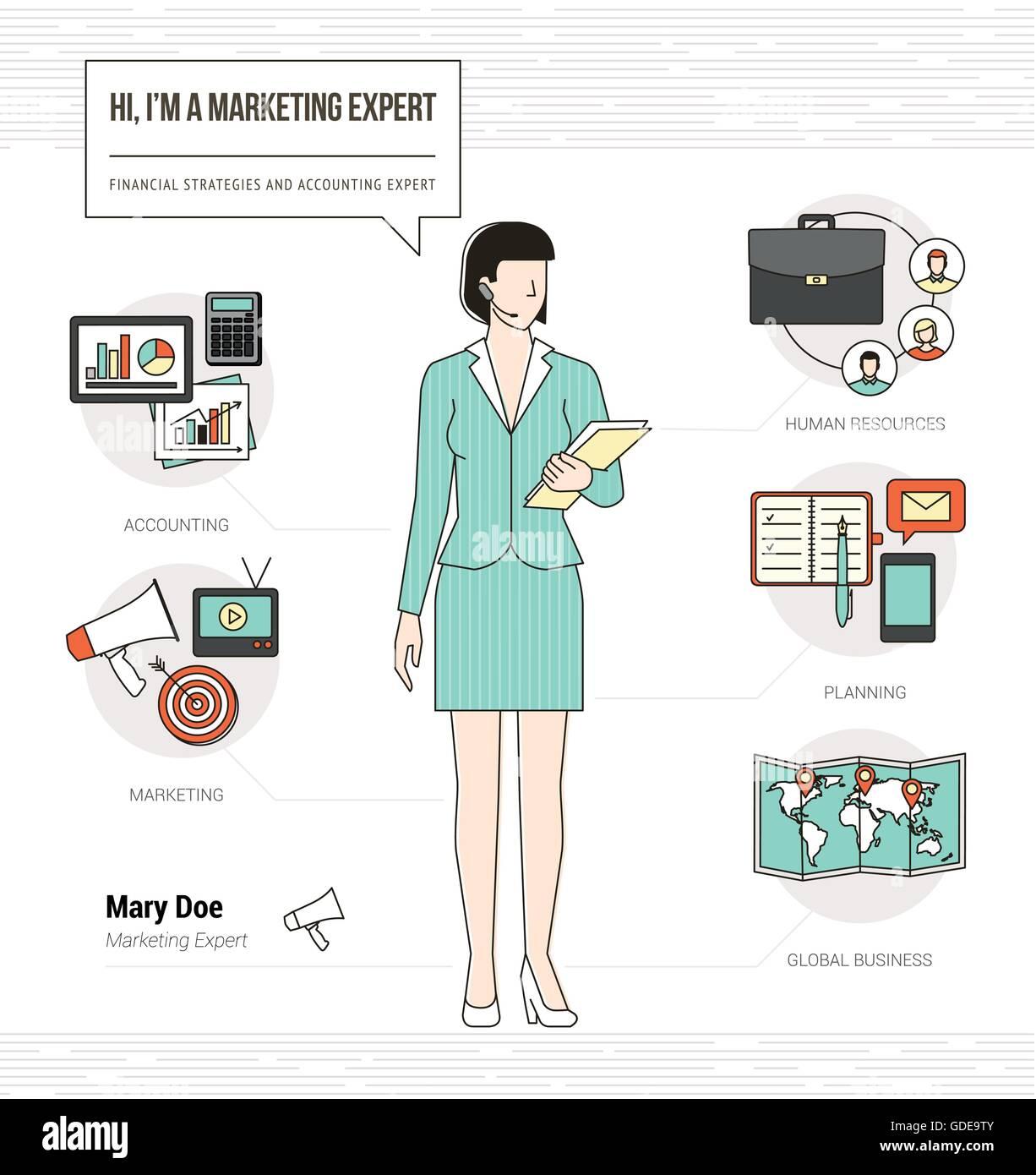 Experto en marketing profesional infográfico habilidades reanudar el ...