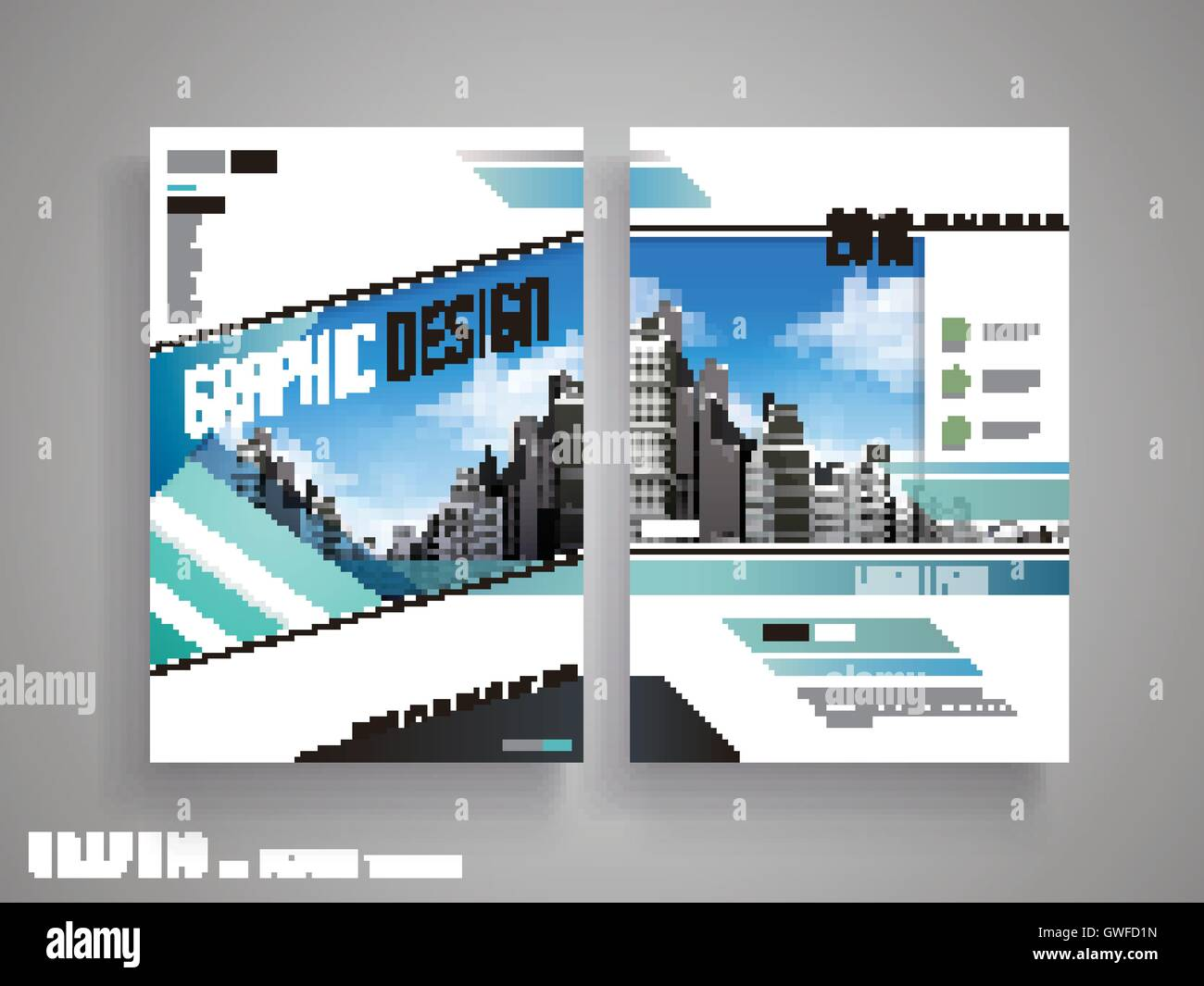 Flyer o el diseño de la cubierta con un atractivo paisaje urbano y ...