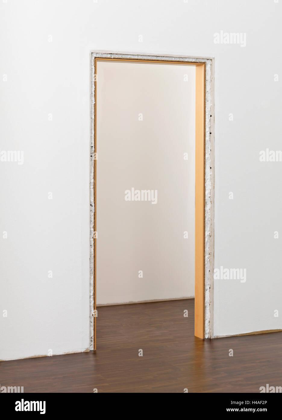 Marco de puerta, instalación, instrucciones, paso 7 Foto & Imagen De ...