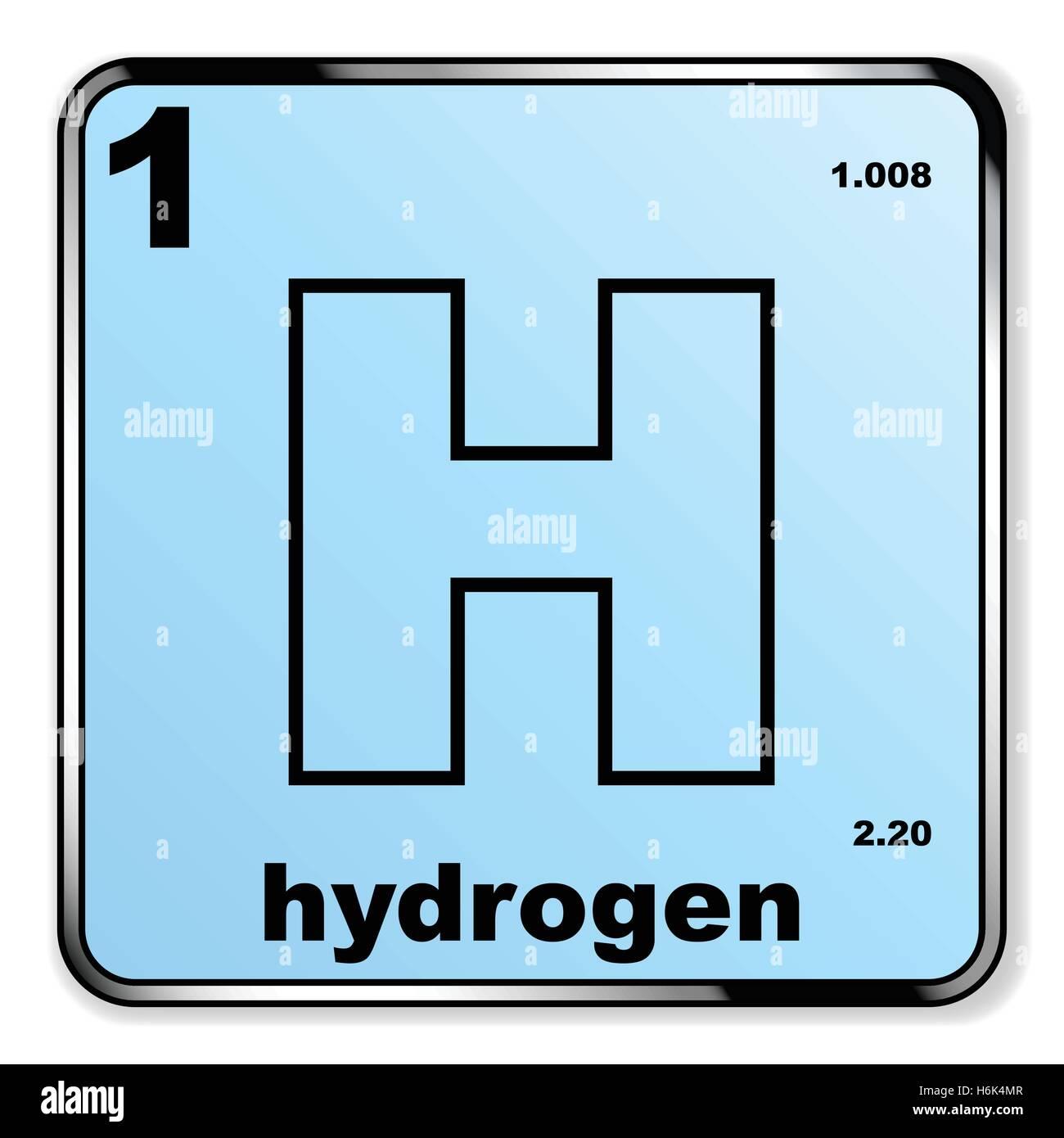 El hidrgeno tomado de la tabla peridica de elementos sobre un el hidrgeno tomado de la tabla peridica de elementos sobre un fondo blanco ilustracin del vector imagen 124581319 alamy urtaz Image collections