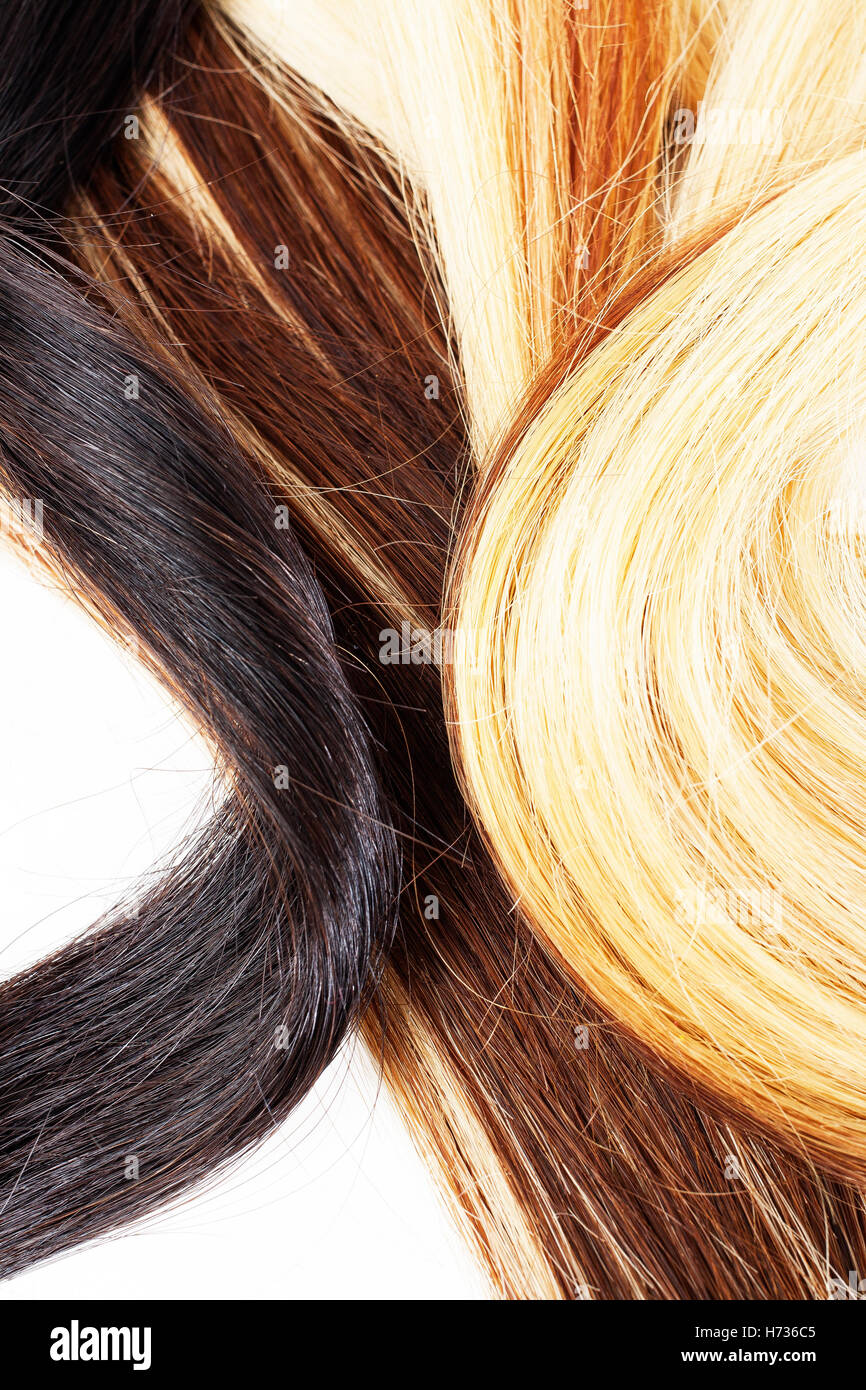 Cabello color rubio claro marron